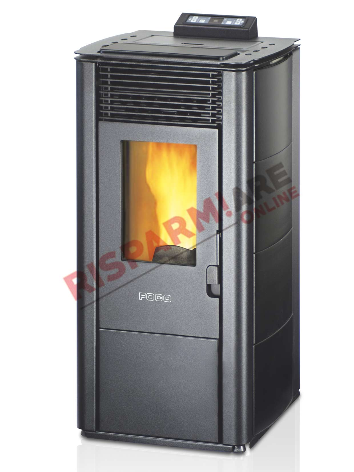 Foco stufa a pellet traditional majolica 12c 10 10kw for Foco stufe pellet