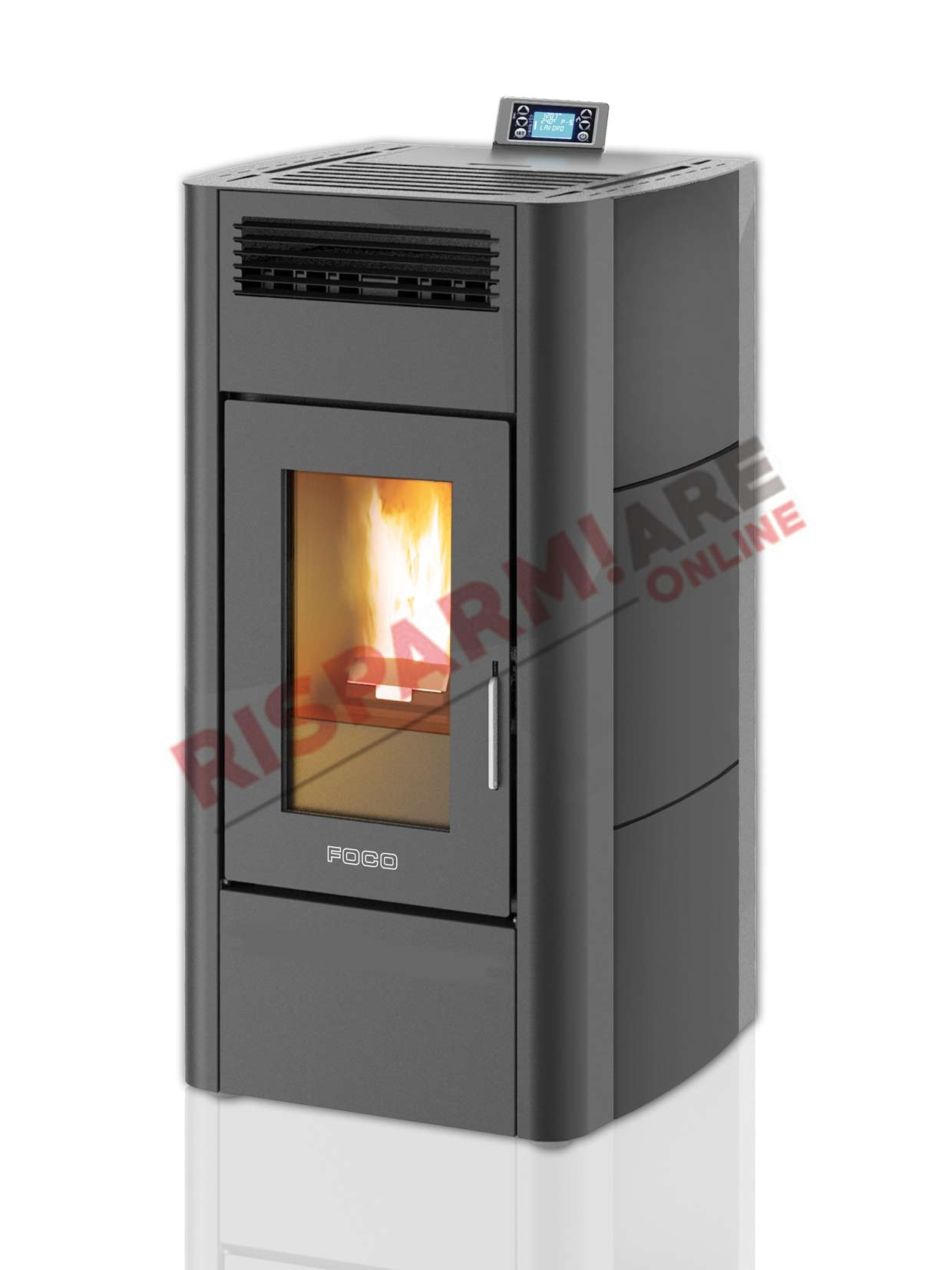 Foco stufa a pellet traditional majolica 16 15 10kw for Foco stufe pellet
