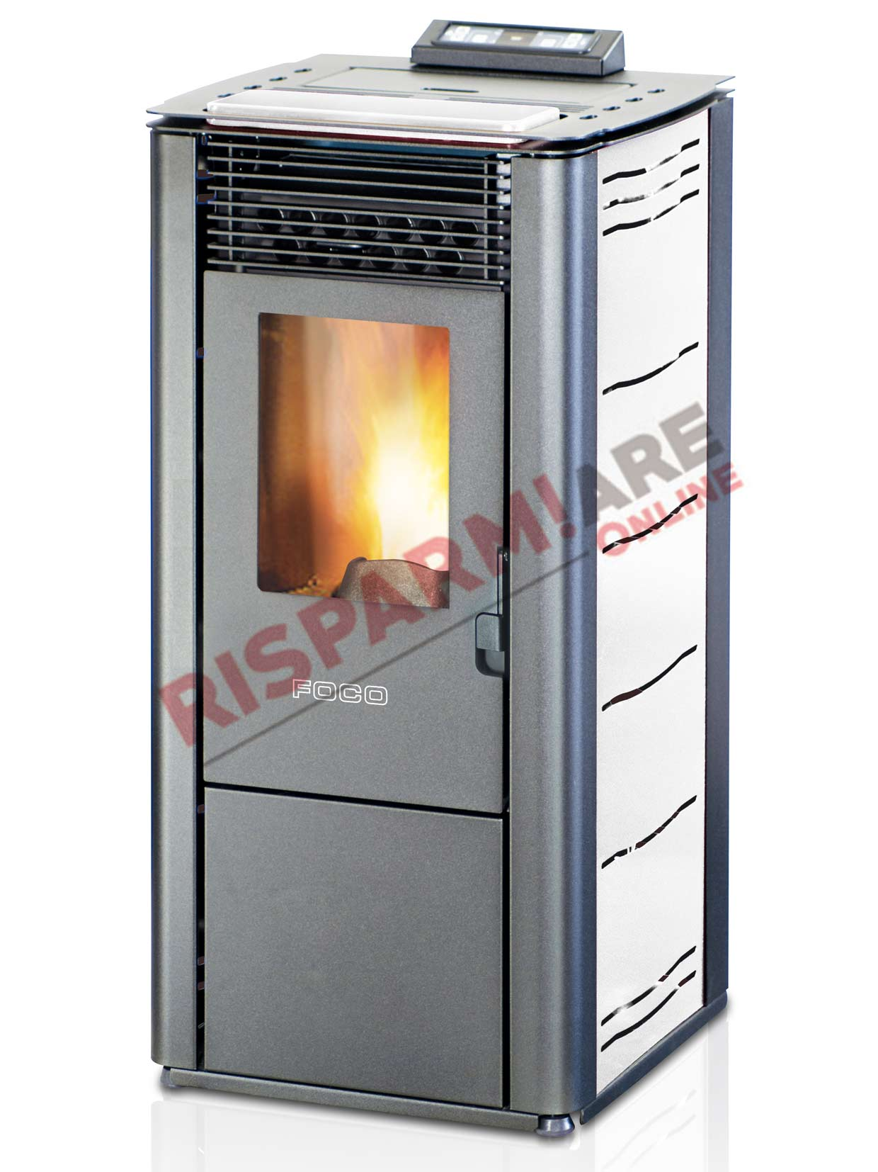 Foco stufa a pellet traditional steel 12 10 10kw for Foco stufe pellet