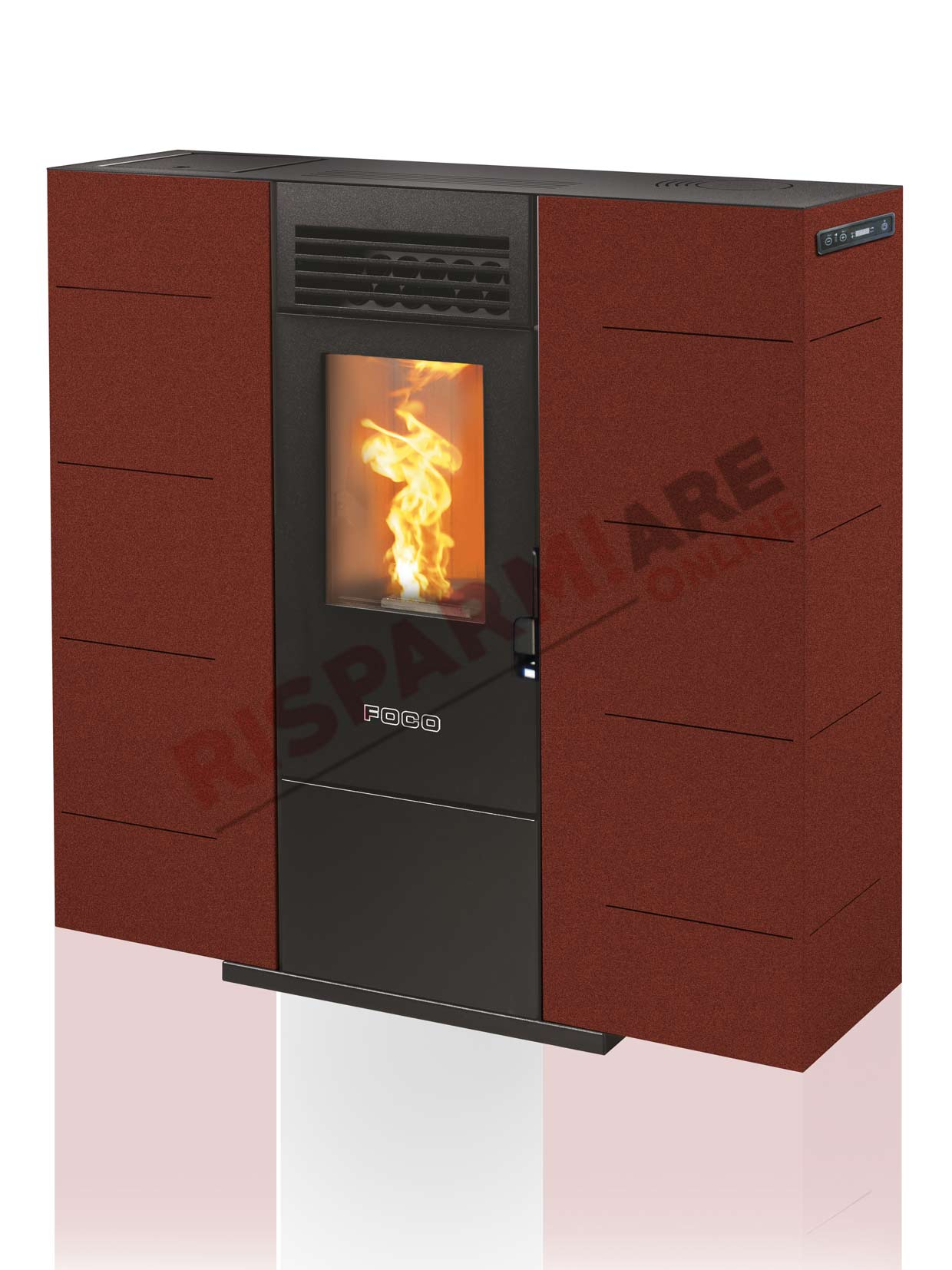 Foco stufa a pellet slim 6 6 53kw for Foco stufe pellet