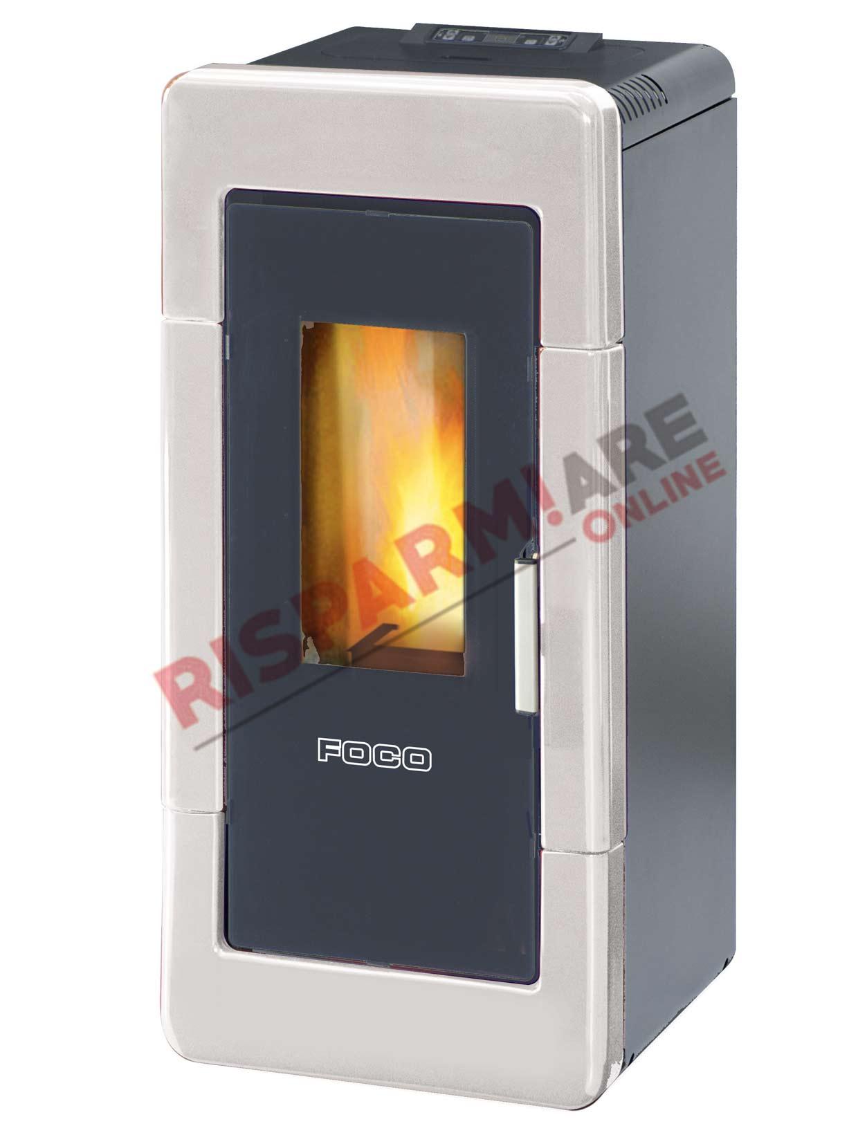 Foco termostufa a pellet traditional majolica idro 14 14 for Foco stufe pellet